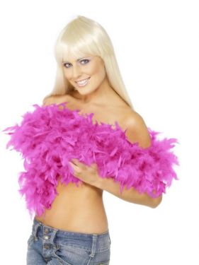 Feather Boa Deluxe in Shocking Pink